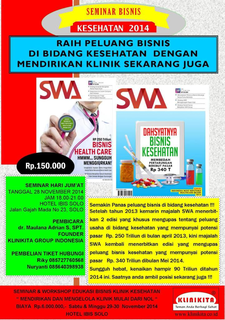 Seminar Bisnis Klinik 2014